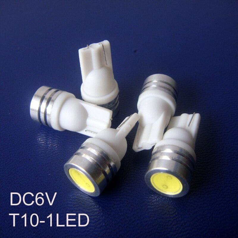 High quality COB 0.5w 6.3v led pilot lamp T10 w5w 194 168 led bulb,6.3v 0.5w T10 led indicator lights free shipping 5pcs/lot