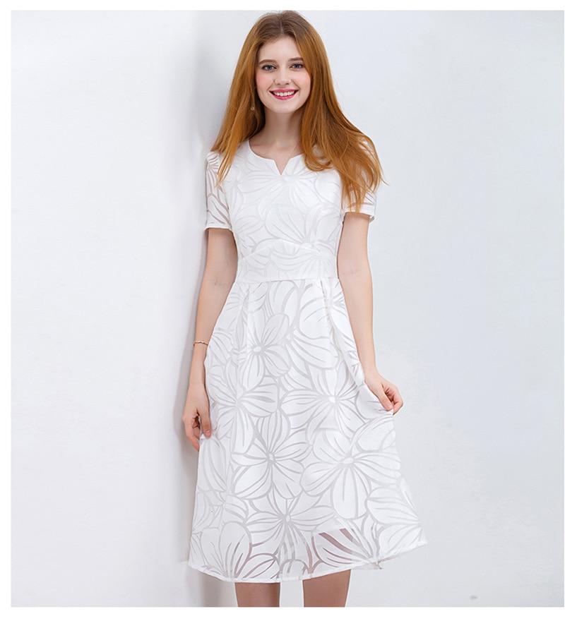 knee length casual elegant white casual dress