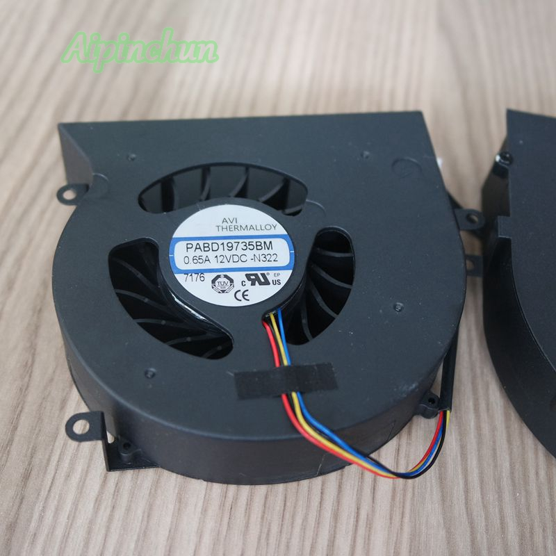 New Original Laptop Notebook CPU Cooling Cooler Fan For MSI GT62 GT62VR 16L1 16L2 16L3 6RE 7RE PABD19735BM N322 12V 0.65A 4Pin