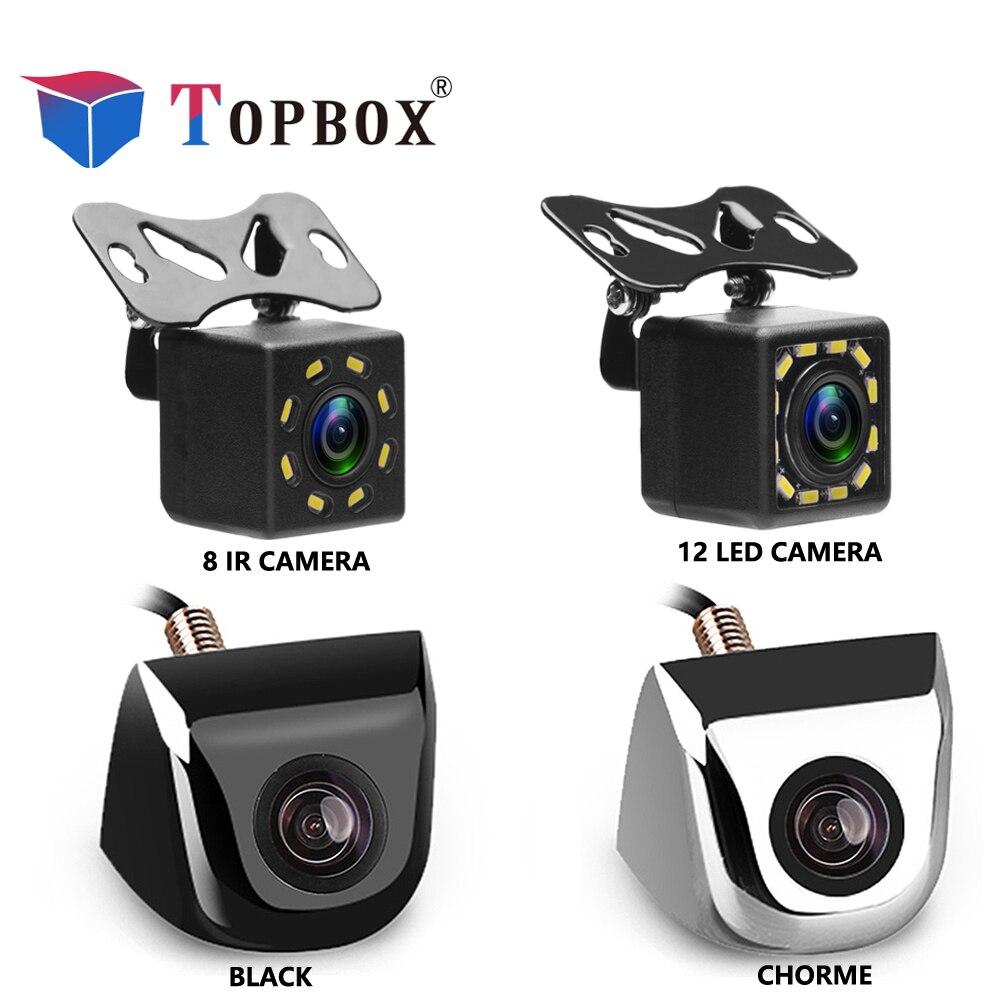 Bauletto Auto Videocamera vista posteriore 8 LED Night Vision Telecamera di Retromarcia Parcheggio per Automobili Monitor CCD Impermeabile 170 Gradi HD Video