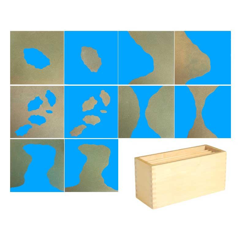 Jouets en bois Montessori pour bébé boîte de sable terre et océans jouets éducatifs d'apprentissage pour enfants cadeau d'anniversaire YF1246H