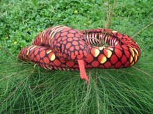 plush creative snake toy new red big pattern python toy simulaiton boa gift toy about 280cm