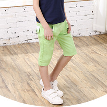Soft Kid Trousers Spring Autumn Casual Pants Baby Boys Trousers Fluorescent Green Children Straight Pants