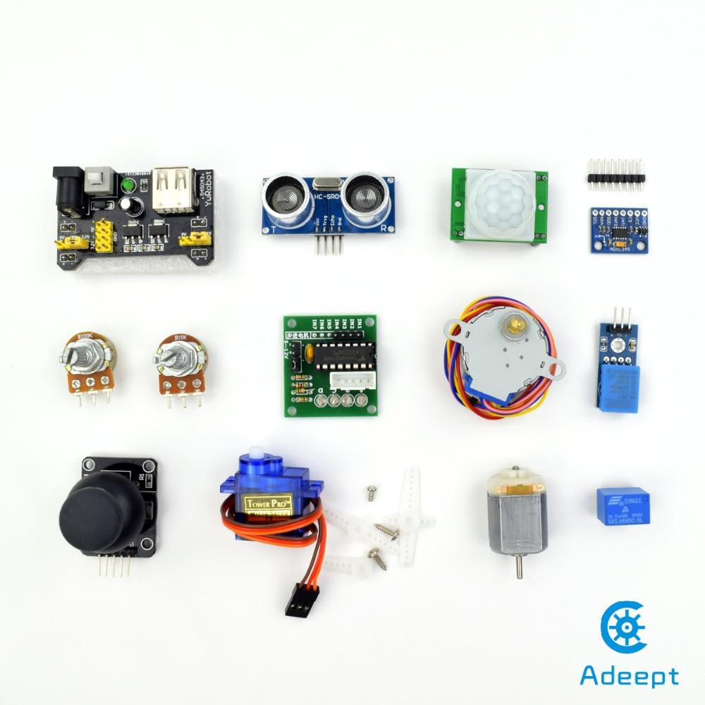 Adeept Free Shipping New Ultimate Starter Learning Kit for Raspberry Pi 3 2 Model B/B+ Python Book headphones diy diykit