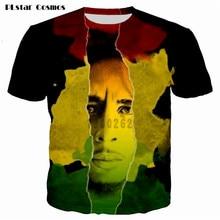 Reggae Star Bob Marley Print t shirt men 3D t-shirt Summer Short Sleeve Casual Tops Tee Plus Size 5XL  hip hop t shirt tee shirt недорого