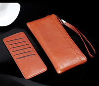 Strap Hand Card Wallet Genuine Cow Leather Mobile Phone Case Pouchs For Xiaomi Mi 5s Plus