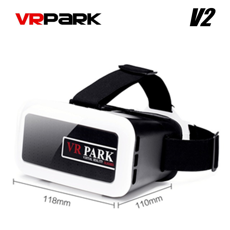 VRPARK V2 Virtual Reality Glasses For 4.0-6.0 Inch Mobile Phone 3D VR Box Glass Video Movie Immersive Helmet glasses Freeship