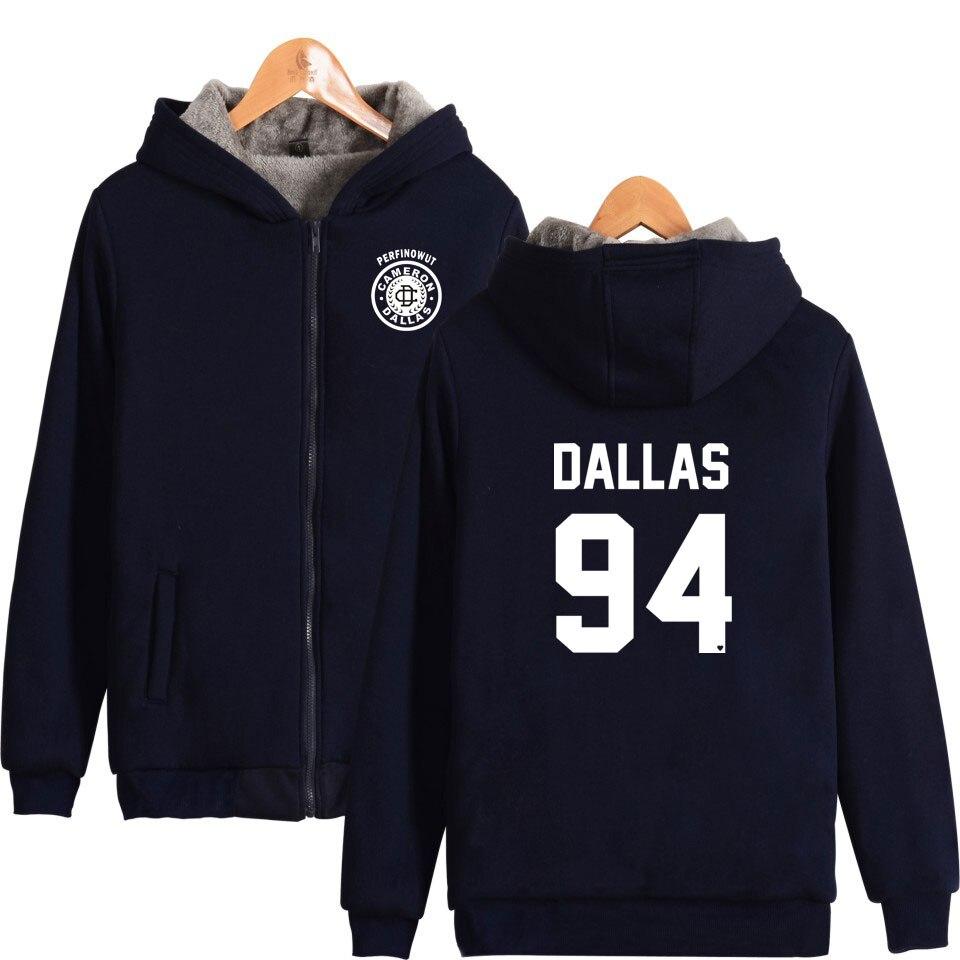 Cameron Dallas Hoodies Cool And Fashion Long Sleeve Winter Warm Thick Zipper Hoodies Sweatshirts Unisex Hoodies XXS To 4XL
