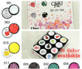 12pcs/lot 36 color available  3D drawing Uv Gel nail art nail decoration draw flowers  5g/pot  ChuJie 3D Drawing UV Gel set  #cj