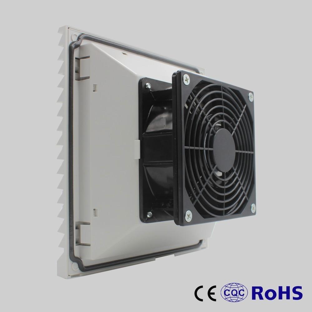 204 204 105 Mm 230v Low Noise Cabinet Panel Fan Filter