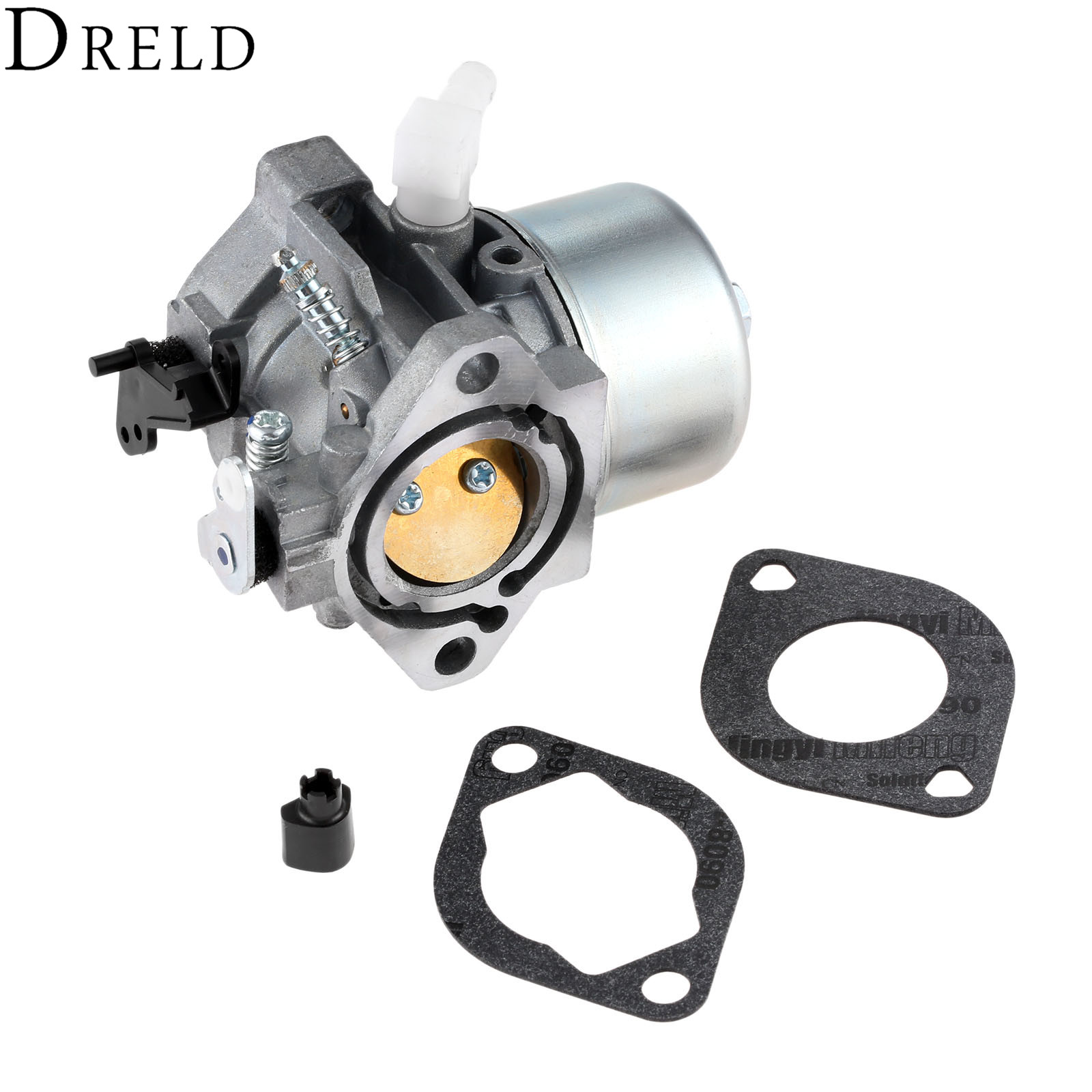 купить DRELD Replacement Carburetor with 2pcs Carburetor Gasket for Briggs & Stratton 699831 Carb Lawn Mower Garden Power Tools по цене 1835.25 рублей