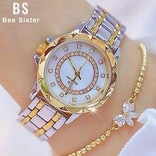 Diament kobiety luksusowej marki zegarek 2021 Rhinestone eleganckie panie zegarki złoty zegar zegarki dla kobiet relogio feminino 2020