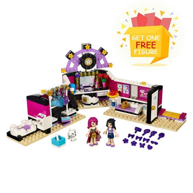 Galleria fotografica Bela Pogo Compatible <font><b>Legoe</b></font> Friends 10404 Series Pop <font><b>Star</b></font> Dressing Room Assembling Girls Building Blocks Bricks toys for children