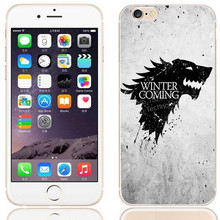 Hot TV GOT Game Thrones Case for iPhone 6 Direwolf House Stark Soft Silicone Cover for iPhone 5 5s 6s Plus winter is coming