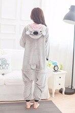 Cute Unicorn Gray Koala animal Pajamas unisex Pyjamas adults flannel Pijama girls clothes party Onesies sleepwear rompers
