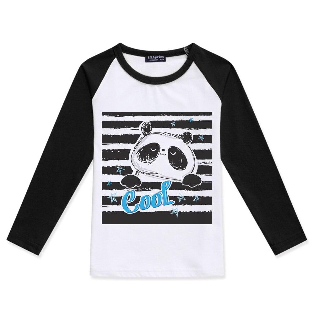 Lights & Lighting Children Baby Boys Clothes 2019 New Boy Cotton Long Sleeve O-neck Color Block T-shirt Panda Printed Girls Tshirts Kids T Shirt