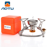 AOTU Camping Gas Stoves In Box Ortable Foldable Split Furnace Butane 3200W Big Power Windproof Gas