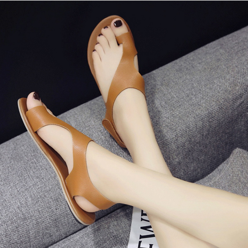 WENYUJH 2019 New Women Summer Casual Ankle Strap Roman Flat Clip Toe Shoes Flat Ladies Solid Sandals DropshippingWENYUJH 2019 New Women Summer Casual Ankle Strap Roman Flat Clip Toe Shoes Flat Ladies Solid Sandals Dropshipping