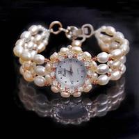 2017 Kimio Relojes Mujer Luxury Brand Butterfly Pearls Bracelet Watch Women Female Ladies Dress Fashion Quartz