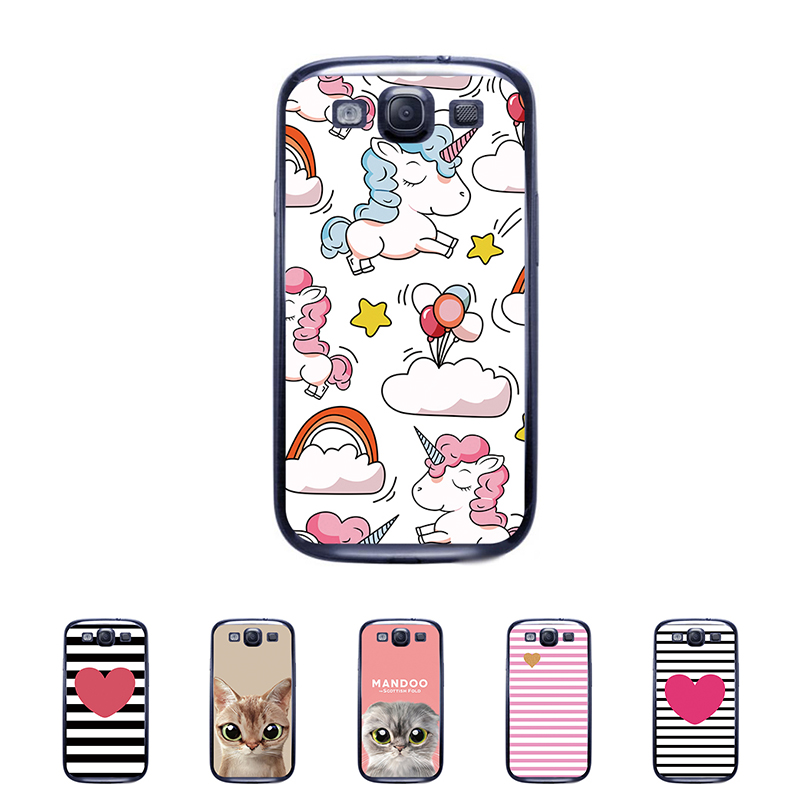 For Samsung I9300 Galaxy S III S3 Case Flower Rose Mobile Phone Cover Bag Cellphone Housing Shell Skin Mask DIY Customize Case