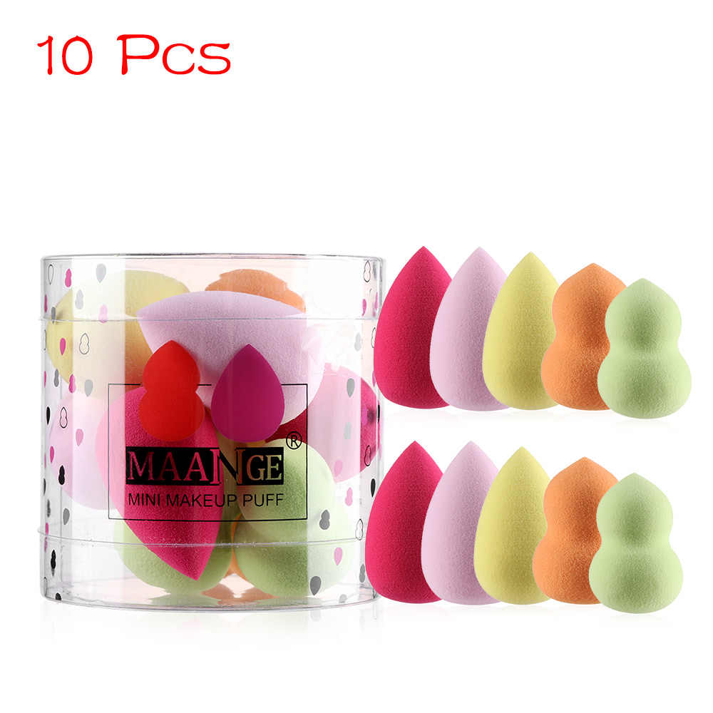 1/4/10 Pcs Mini Makeup Spons Set Tetesan Air Labu Bentuk Kosmetik Puff Tumbuh Lebih Besar Di air Halus Foundation Puff Bubuk