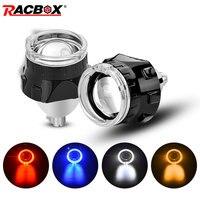 Mini 2.5 inch Bi xenon Projector Lens with Black Mask Angel Eyes H7 H4 Socket Headlamp Use H1 HID Bulbs LHD RHD Car Styling