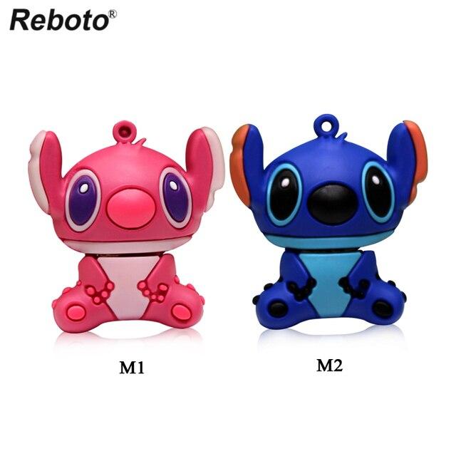 Cartoon Lilo Stitch USB Flash Drive 4GB 8GB 16GB 32GB Cute U Disk Thumb