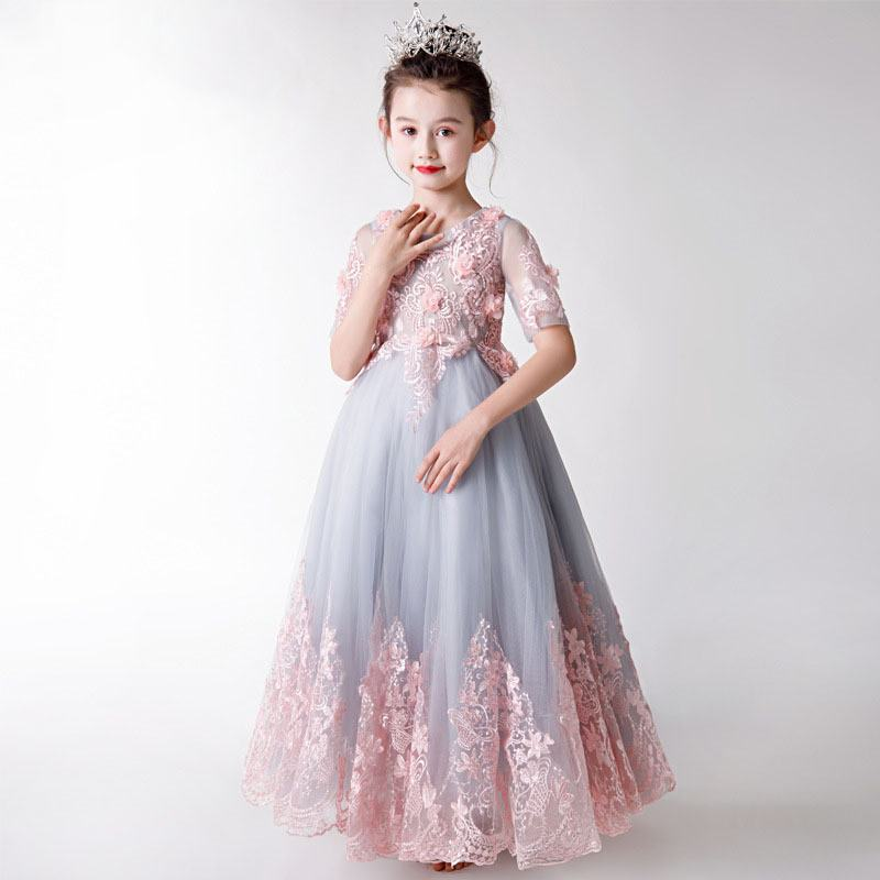 2019 New Teenage Girls Mesh Embroidery Tutu Princess Dress Kids Dresses For Girls Wedding Party Baby Girl Clothes Vestidos F272019 New Teenage Girls Mesh Embroidery Tutu Princess Dress Kids Dresses For Girls Wedding Party Baby Girl Clothes Vestidos F27