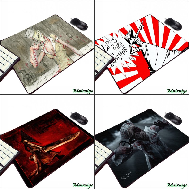 Mairuige Hot Horror Game Silent Hill Series Cool Pattern Print Mousepad Mini Pc Table Mouse Pad for Notebook Laptop Keyboard image