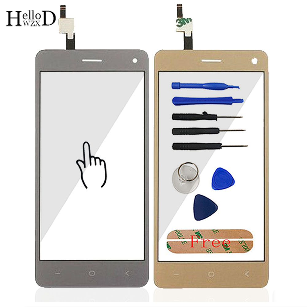 HelloWZXD 5.0 ''Per Vkworld T5 SE Touch Screen Vetro Testato Vetro Anteriore Digitizer Lens Panel Sensore Strumenti + Adesivi regalo