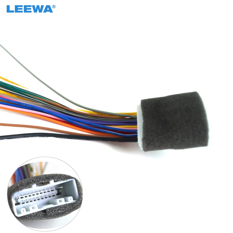 leewa car 20pin audio stereo wiring harness adapter for. Black Bedroom Furniture Sets. Home Design Ideas