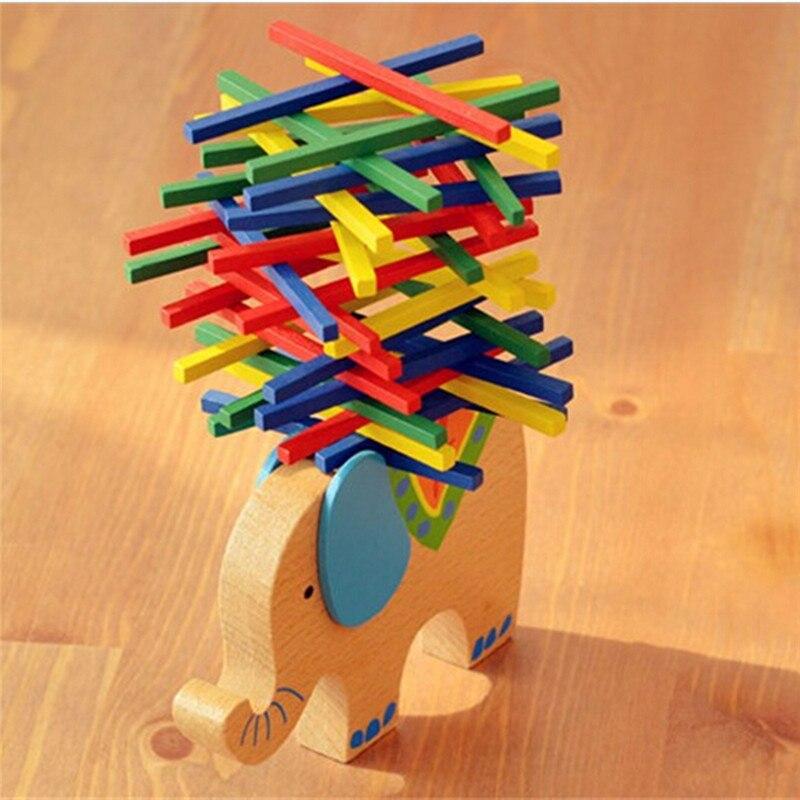 Vermetel Baby Speelgoed Educatief Olifant/camel Balancing Blokken Houten Speelgoed Beuken Hout Balans Game Montessori Blokken Gift Voor Kind Elegant En Stevig Pakket