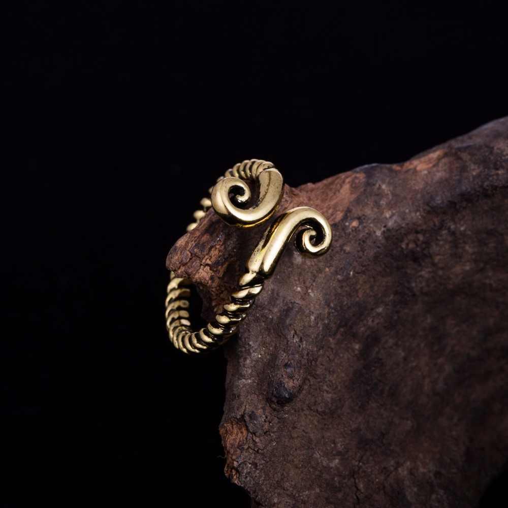 Dawapara antik altın renk yüzük erkekler takı için Vintage ve klasik yüzükler kadınlar için