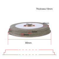 80mm 180 Grit Diamond Grinding Wheel Electroplated Jewelry Stone Polishing Abrasive Tool For Grinding Machine Grinder