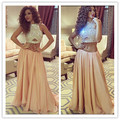 MF11 Sexy Celebrity Dress abiye Myriam Fares Two Piece Set Top Crop Prom Dresses Arabic Evening Gown Party Dresses gece elbisesi
