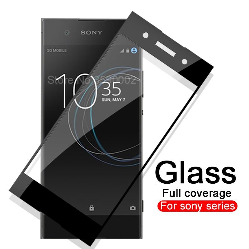 Protective Glass Case For Sony Xperia XA1 XA2 XA3 Plus Ultra XZ4 Tempered Glass For Sony XZ Premium XZ1 Compact Soni Cover Film
