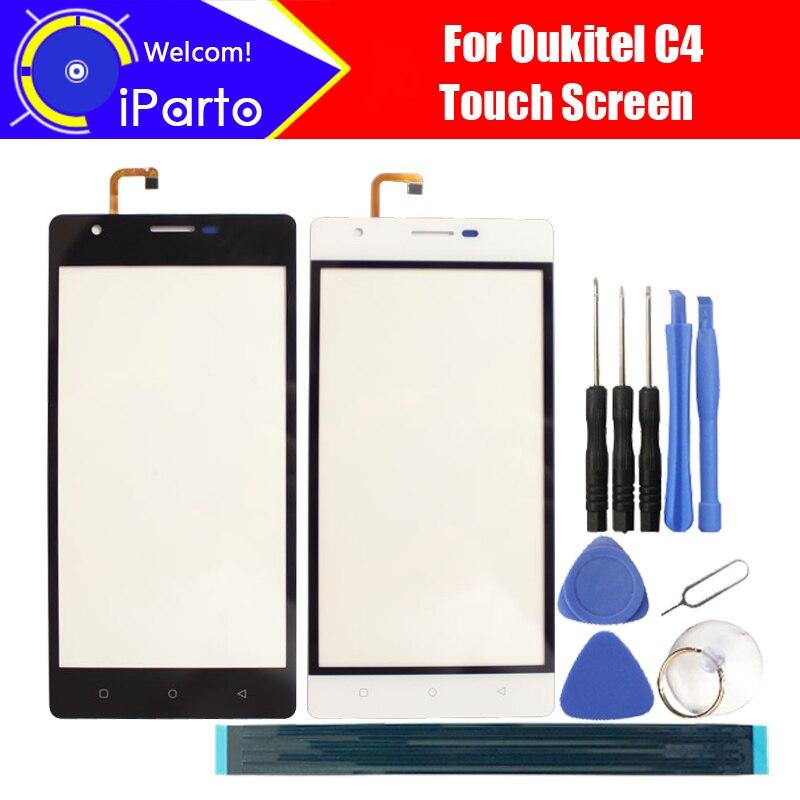 5.0 pouce Oukitel C4 Écran Tactile En Verre Panneau 100% Garantie D'origine Nouveau Panneau de Verre Écran Tactile de Remplacement Pour C4 Téléphone