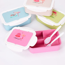 Lunch Box voor Kinderen Bento Box Japanse Stijl Voedsel Container 3 Gordt Lunchbox Loncheras Escolares Infantiles Lancheira Termica(China)