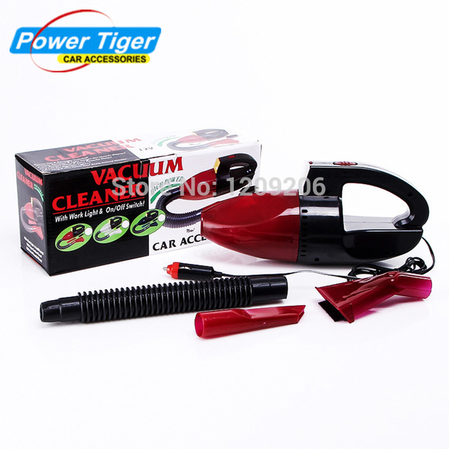 Car Vacuum Cleaner Super Suction Mini 12V High-Power Wet and Dry Portable Handheld Vacuum Cleaner For Car Auto Red Color