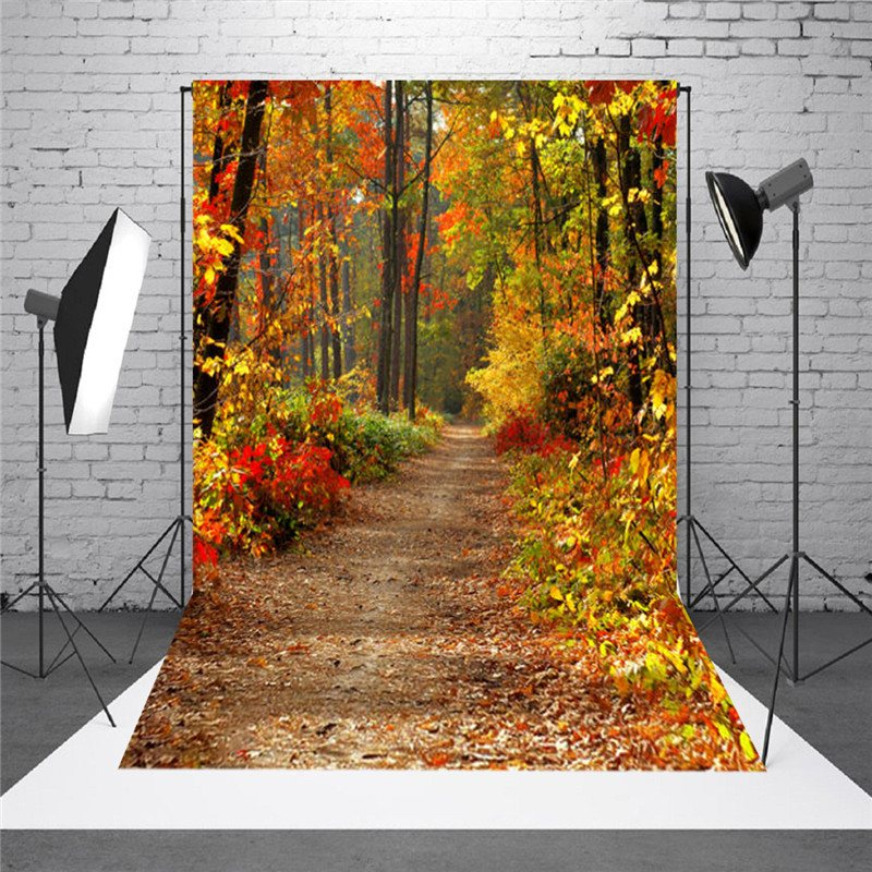 Freya New 90x150cm Vinyl Fabric Autumn Fall Forest 5x7FT Photography Background Studio Photo Backdrops For Studio Photo