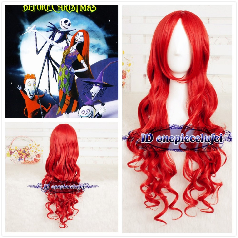 The Nightmare Before Christmas Sally Long Wave Curly Red Anime ...