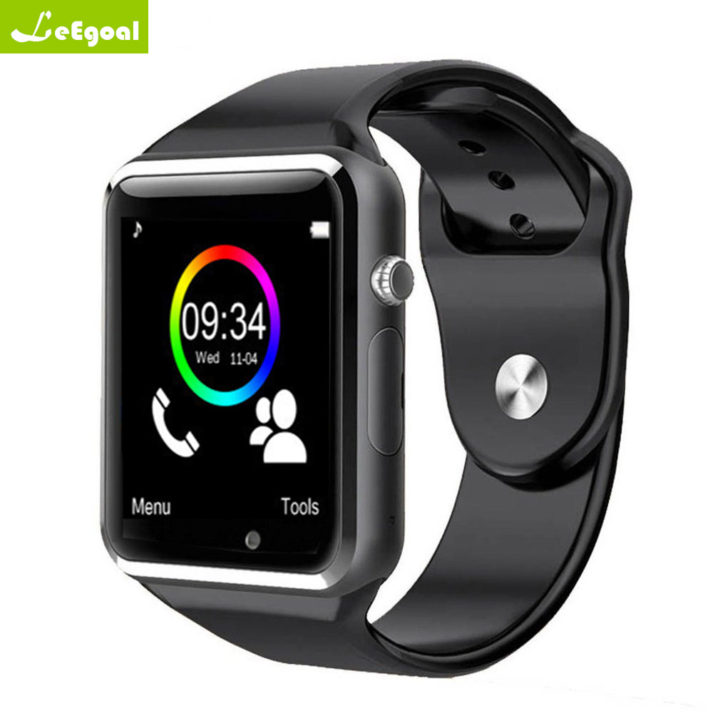 Leego A1 reloj Bluetooth Smart reloj pulsera podómetro con SIM Cámara Smartwatch para Android Smartphone