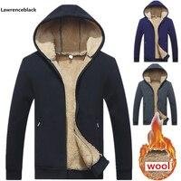 Wool Padded Sweatshirts Man winter Hoodies Men 2018 spring hot sale warm fleece high quality brand clothing tracksuit men 964