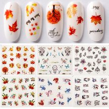 Maple Leaf Design Sliders for Nails Floral Nail Art Sticker
