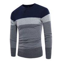 M 3XL Sweater Men 2017 New Arrival Casual Pullover Men Autumn Round Neck Patchwork Quality Knitted