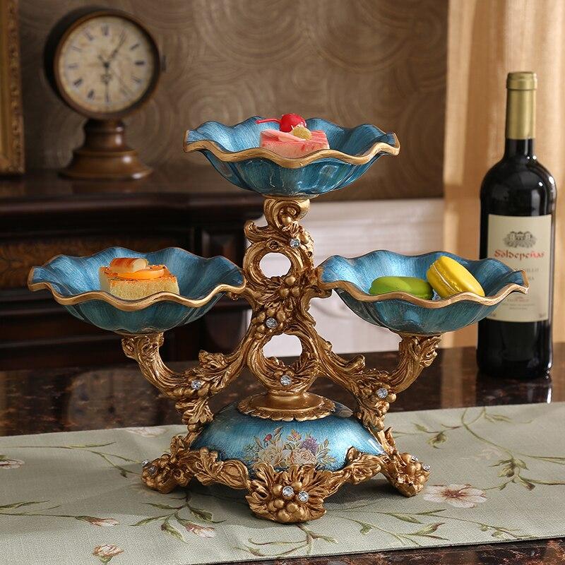 Фрукты сушеные фрукты чаша Винтаж Американский двойной диск украшения домашнего интерьера гостиной журнальный столик украшения