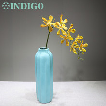 INDIGO-Yellow Wanda Orchids Phalaenopsis Real Touch Flower Decorative Wedding Orchid Floral Party Free S