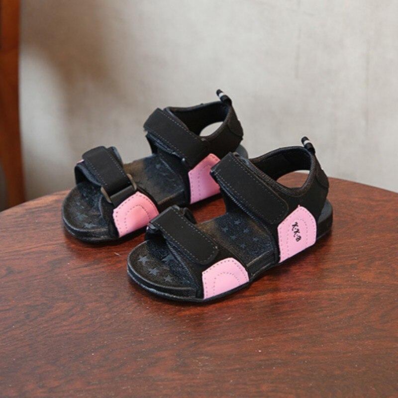 New Fashion Kid Sandals Children Shoes Open Toe Beach Shoes Boys Sandals PU Leather Summer Shoes Kids Sandals
