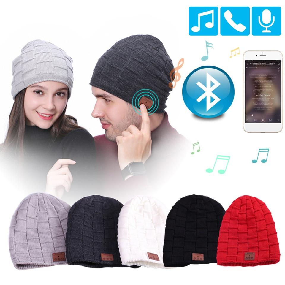 Wireless Headphone Bluetooth Hat Winter Cap Knit Earphone Sport Headset With Microphone Handsfree Speaker For iPhone Sony Xiaomi