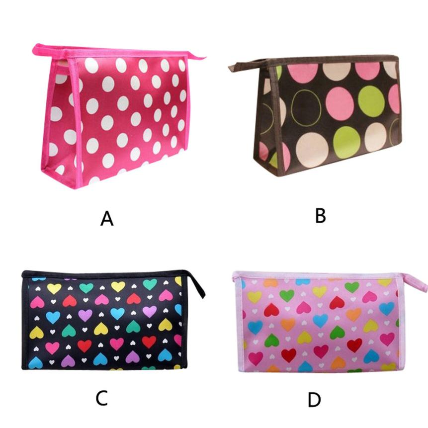 New Designer Superior Quality Multi Color Pattern Cute Color Multi-Function Cosmetic Bag Satin Material traveling bag